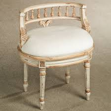Shabby Chic Bathroom Vanity by Shabby Chic Low Back Bathroom Vanity Chair With Foamy Seat