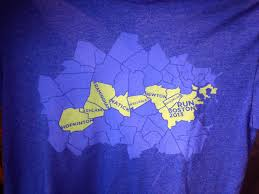 T Boston Map by The Boston Marathon T Shirts 2013 Competitor Com