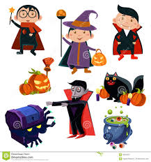 halloween cute clipart halloween cute witches set stock vector image 59834201
