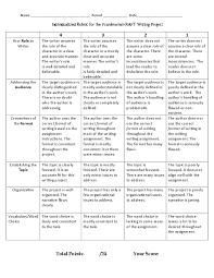 term paper grading rubric To write a college essay   FC