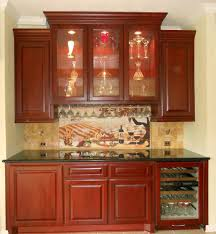 Kitchen Tile Backsplash Design Ideas Interior Design Elegant Kraftmaid Kitchen Cabinets With Tile