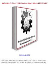 mercedes sl class r230 service repair manual by bridgettarevalo