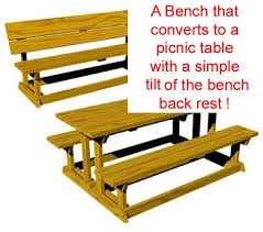 Plans To Build A Picnic Table Bench by R14 1615 A Convertible Picnic Table Bench Vintage Woodworking