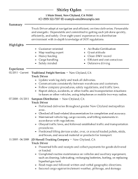 Job Resume Examples 2015 by Truck Driver Resume Examples Free Resume Example And Writing