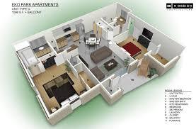 3d Floor Plans by Apartment Interior Design 3d Plans 3d Floor Plan Top View