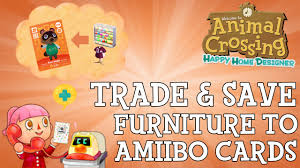How To Save Items To Amiibo Cards In Animal Crossing Happy Home - Home designer furniture