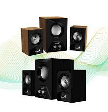 genius sw 5 1 home theater genius 2 1 multimedia speaker system with wooden subwoofer u2013 sw