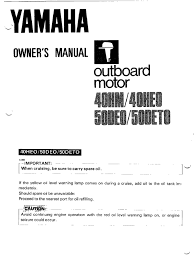 yamaha owners manual 40 50 hp gasoline throttle