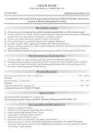 Breakupus Fascinating Mba Sample Resume From Resume Writers Com