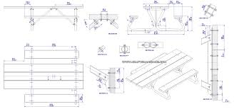 Plans To Build A Picnic Table Bench by Picnic Table Plans