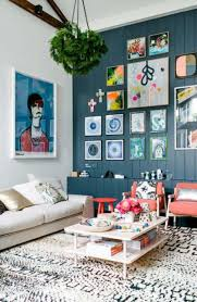 How To Make A Gallery Wall by Vintage Gallery Wall With Multi Colored Frames For Small Living