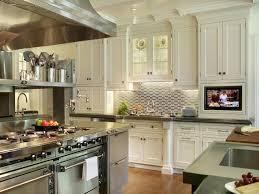 kitchen backsplash ideas with white cabinets l shape white kitchen