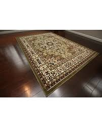 Green And Beige Rug Deal Alert Generations New Oriental Traditional Isfahan Persian