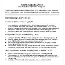 Sales Resume        Free Samples  Examples  Format Sample Templates Sales Manager PDF