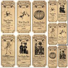 Vintage Halloween Printables by Surviving Halloween Apothecary Labels Stickers 2 Sizes
