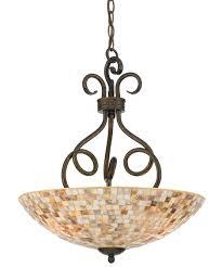 quoizel my2816 monterey mosaic 18 inch wide 3 light large pendant