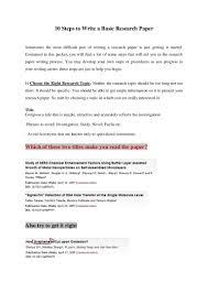 writing the research paper 10 steps to write a basic research paper