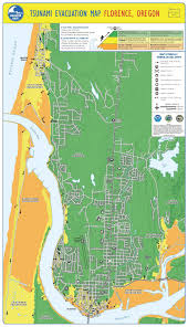 Maps Oregon by Tsunami Evacuation Maps City Of Florence Oregon