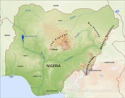Physical Map Of Africa by Nigeria Physical Map