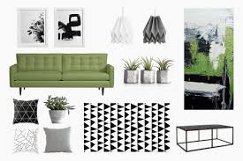 Urban Living Room Decor An Urban Living Room Black White U0026 Green Belivindesign