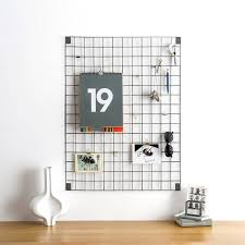 grey wire mesh memo board by block design notonthehighstreet com