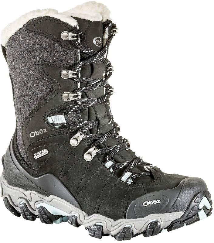 Oboz Bridger 9-Inch Insulated Waterproof Winter Boots Black