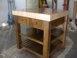round butcher block kitchen table home decorating interior