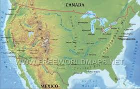 Political Map Of United States And Canada by United States Physical Map