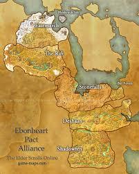 Morrowind Map Ebonheart Pact Alliance Map Eso Game Maps Com