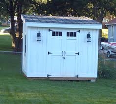 diy lean to or slanted roof shed built after a couple different