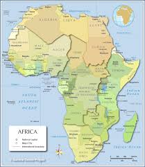 Sub Saharan Africa Physical Map by Map Of Africa Countries Of Africa Nations Online Project