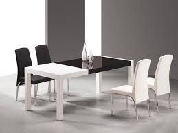 Contemporary Dining Room Sets Dining Room Modern White Leather Dining Chair Design Ideas Square