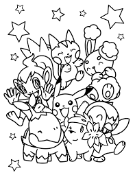 pokemon christmas coloring pages pokemon coloring pages 04