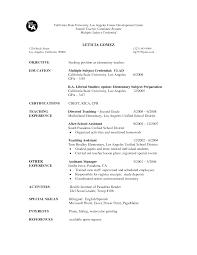 Best Job Resume by Elementary Teacher Resume Sample Sample Resume For A Chef