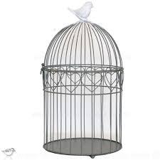 oiseaux en metal cage a oiseaux decorative ronde coeur oiseau blanc
