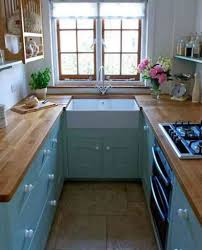 Shabby Chic Kitchen Cabinet Small Shabby Chic Kitchen Ideas With Ceramic Floor And Pastel Blue