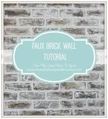 from my front porch to yours diy faux brick wall tutorial using