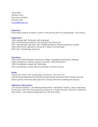 Cosmetology Resume Sample by Itil Certified Resume Resume For Your Job Application Cost