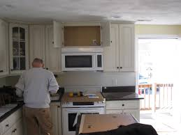 How To Install Kitchen Wall Cabinets by How To Install A Vented Microwave Oven