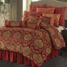Red King Comforter Sets Lorenza Medallion Dark Red Velvet Comforter Bedding