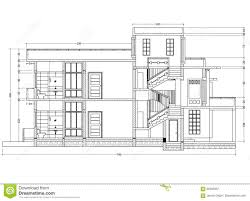 house blueprint perspective stock illustration image 92293067