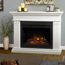 50 Electric Fireplace by Real Flame Kennedy 56 In Grand Series Electric Fireplace In White