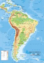Centro America Map by Map Of Latin America South America Physical And Political