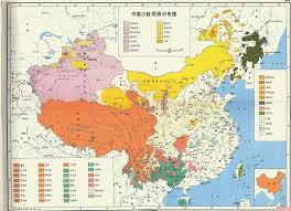 China Topographic Map by The Map Of China U0027s Ethnic Groups Mappenstance