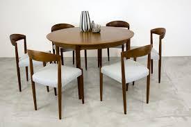Teak Dining Room Set Danish Teak Dining Table With Extension Leaf By Arne Vodder 1960s