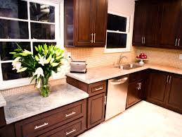 Kitchen Color Ideas With Cherry Cabinets Dark Kitchen Cabinets With Light Granite Adorable Fireplace