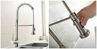 delta touch kitchen faucet battery combined brushed nickel water