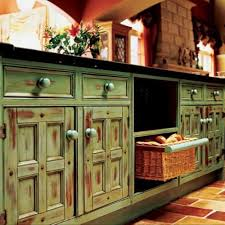 Vintage Decorating Ideas For Kitchens by Kitchen Awesome Furniture With Vintage Distressed Green Kitchen