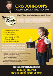 halloween magic show amazing assembly programs