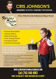 halloween magic show amazing assembly programs